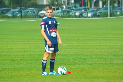 Former AIS Captain Scott Galloway in his first training session. PHOTO: Jim Webster